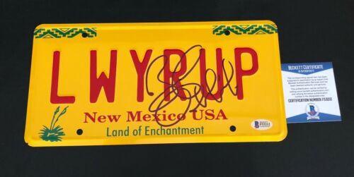 BOB ODENKIRK SIGNED AUTO BETTER CALL SAUL LICENSE PLATE AUTHENTIC BECKETT BAS