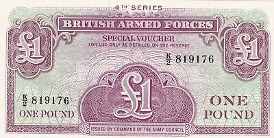 British Armed Forces ONE POUND 4th Series UNC