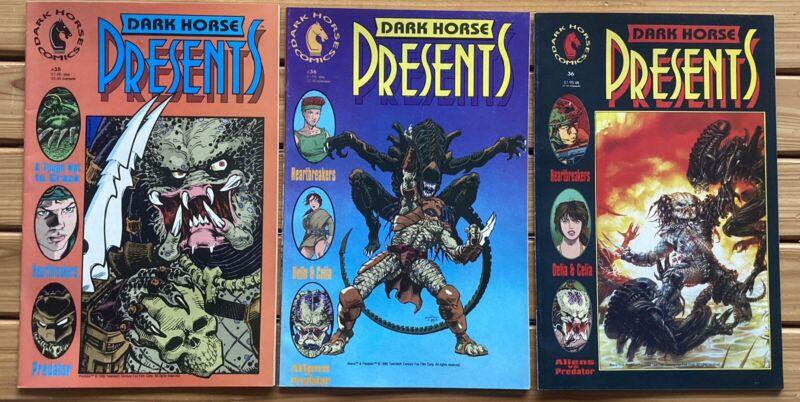DARK HORSE PRESENTS # 35 & 36 Both Cover Versions, 1st Aliens Vs Predator Comics