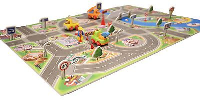 Play Mat Toys Cars City Town Mat Kids Gift Set Puzzle Educational Toy e