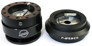 NRG Steering Wheel Short Hub Adapter Quick Release BK Honda 88-91 Civic EF CRX