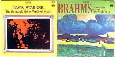 LOT (2) LPs EVEREST Janos Starker ROMANTIC CELLO SPAIN/BRAHMS SONATAS 3222/3235