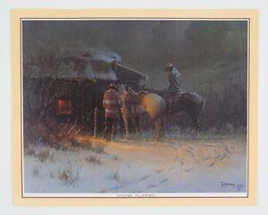 Vintage-1970s-Gerald-Harvey-Jones-G-Harvey-Winter-Flurries-Print-FREE-SHIPPING