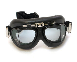 Emgo Roadhawk Flyer Split Lens Motorcycle Goggles - Vintage Red Baron - 76-50100