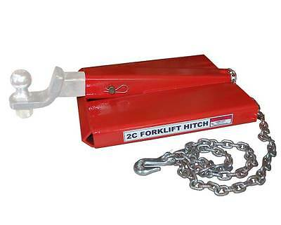 Forklift Ball And Hitch Receiver Fork Lift Tow Grade 70 Chain Hook