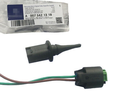 OEM Outside Outer Ambient Air Temperature Sensor w/ Plug Fit For Benz W202 W204