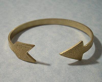 Adjustable Arrow Cuff Bracelet Solid Brass Valentines Day Archery Jewelry