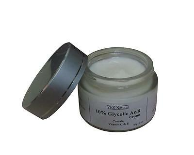 10  Glycolic Acid Face Cream Best Facial Chemical Peel Skin Care Home Treatment