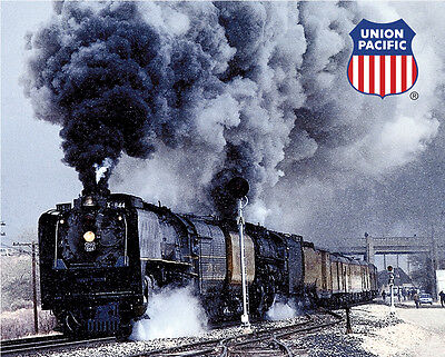 Union Pacific 844   3985 Doubleheading Sturdy Metal Sign Logo Photo