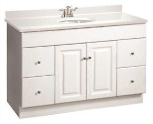 Design House Wyndham 48 White Rta Bathroom Vanity 4 Drawer Cabinet Only