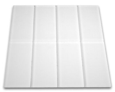 Frosted White Glass Subway Tile 3x6 for Backsplashes, Showers & More - SQFT