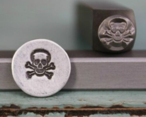 SUPPLY GUY 6mm Skull and Crossbones Metal Punch Design Stamp SGCH-35