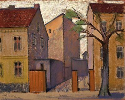 Erna von Westphal - Stadtansicht Berlin - Pastell - 1961