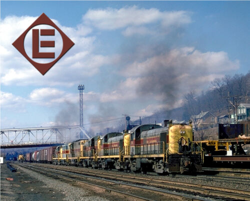 "Erie Lackawanna Alcos Sturdy 8""x10"" Metal Sign"