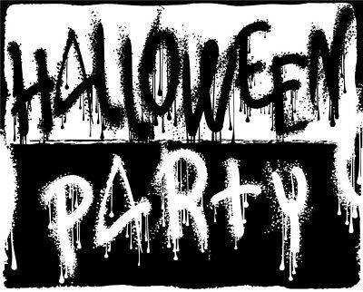 Black-White Halloween Party Vinyl Photography Backdrop Photo Background 5X3FT](Black And White Halloween Background)
