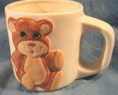 (Collectible Raised Teddy Bear Coffee Mug Cup Ceramic SWEET)