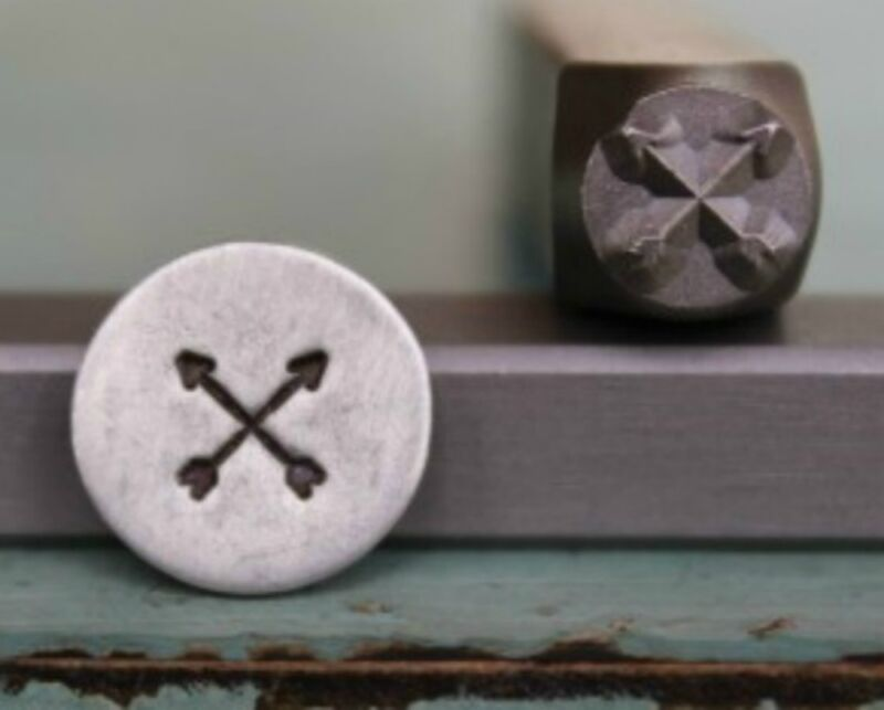 SUPPLY GUY 5mm Crossing Arrows Metal Punch Design Stamp (SGCH-13)