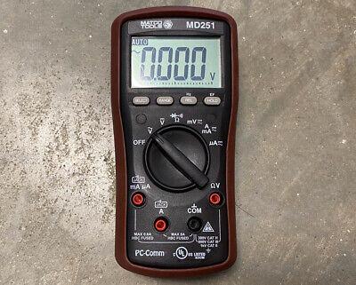 Matco Tools Md251 True Rms Pc-comm Multimeter - Nice