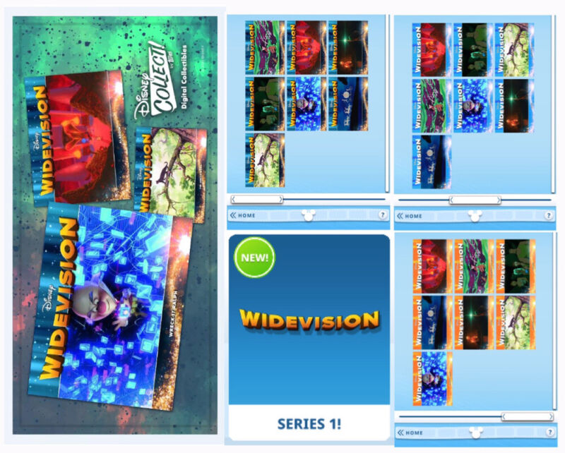 WIDEVISION 21 CARD SET-MAGICAL MOTION/BLUE/ORANGE-TOPPS DISNEY COLLECT DIGITAL
