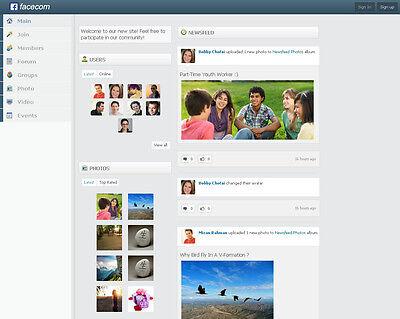Online Social Network Website   Free Installation   Hosting