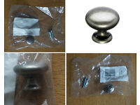 Symphony HPK 350 25mm Diameter Plain Antique Pewter Knob