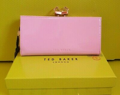 TED BAKER TRONTO PATENT CRYSTAL DUSKY PINK LARGE PURSE BNWT RRP £89.00 IN BOX