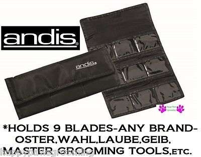 Laube Blade Case - ANDIS Folding Clipper 9 BLADE Storage Tote CASE*For ANY Oster,Wahl,Laube,Geib,+