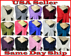 New-Solid-Pashmina-Silk-Cashmere-Shawl-Scarf-Stole-Wrap-Christmas-Sale