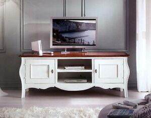 Mobile porta tv laccato bianco piano noce x soggiorno for Mobili x salone