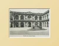 Loreto,fronte Del Palazzo Regio. Ancona Marche.italia.xilo In Passpartout 1894 -  - ebay.it