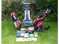 Ben Sayers M7 17 Piece Golf Club Set with Trolley Extra Bag and loads of bits