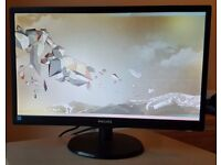 Philips High Contrast 21.5 inch LED 1080p PC Monitor with Original Packaging/Foam/Screen Cover