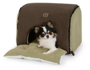 New Petego Soft Deck Pet House and Bed, Espresso/Sage, Large PU2