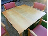 Beech Dining Table and 4 Chairs - Commercial Grade FREE DELIVERY* Bulk Buy