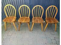 Vintage Retro Mid Century Ercol Windsor Chairs
