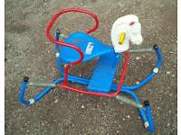 Triang sprung childs rocking horse vintage toy