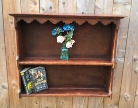 Solid Oak Vintage shelf unit