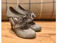 Miss Selfridge Grey Suede Ladies Heels Size 3