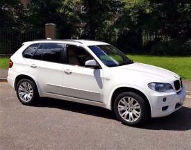 ALPINE WHITE! (2009) BMW X5 XDRIVE 30D M SPORT - CAMERA /SAT NAV - LEATHER - ALLOYS - FULL SERVICE