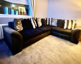 "SCS ""piper"" corner suite, chair & footstool"