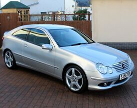 Mercedes C Class Evolution S Coupe, 6 Speed Manual, 1 Owner, Full service History, Rare S Model...