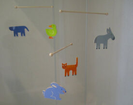 Wooden Mobile - Animals