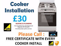 £30 - Registered Cooker Installer Gas Electric connect disconnect remove corgi Electrician Plumbing