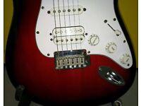 Fender Standard Squire Stratocaster H.S.S. '70s headstock. Rare 2005 LE Model.