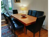 Dining table and 8x Heals chairs