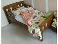 John Lewis Boris toddler bed with sprung mattress & bedding