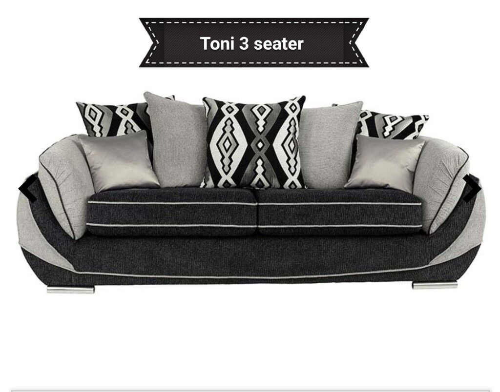 New Toni 3 2 Seater Sofas Free Delivery