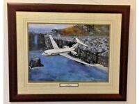 V10 Ascension Island 1985, framed aviation print by Brian Mulholland