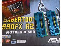 AMD FX 8350, Sabertooth 990FX & 2 X4GB DDR3 RAM Bundle