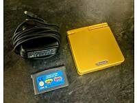 Nintendo Gameboy Advance Sp Gold Zelda themed case / Crash Bandicoot & Spyro games